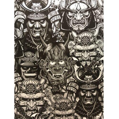 ARTwork, Wassertransferdruck, Folie Oni Masks, 50cm Breite