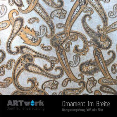 ARTwork, Wassertransferdruck, Folie Ornament, 1m Breite