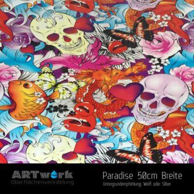 ARTwork, Wassertransferdruck, Folie Paradise, 50cm Breite
