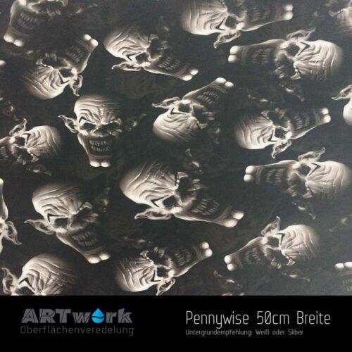 ARTwork, Wassertransferdruck, Folie Pennywise, 50cm Breite