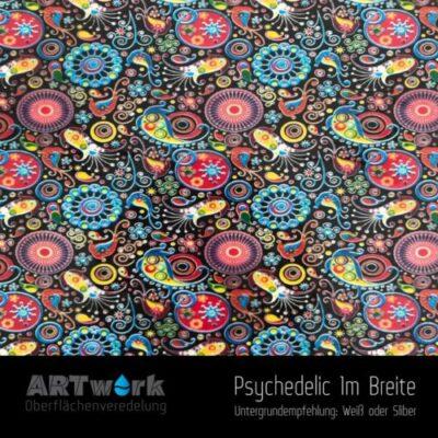 ARTwork, Wassertransferdruck, Folie Psychedelic, 1m Breite