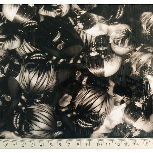 ARTwork, Wassertransferdruck, Folie Puppet Skull, Ken Kaneki, Tokyo Ghoul, 1m Breite