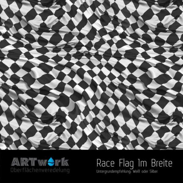 ARTwork, Wassertransferdruck, Folie Race Flag, 1m Breite