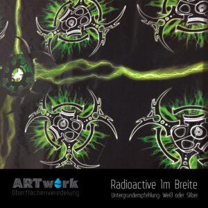 ARTwork, Wassertransferdruck, Folie Radioactiv, 1m Breite