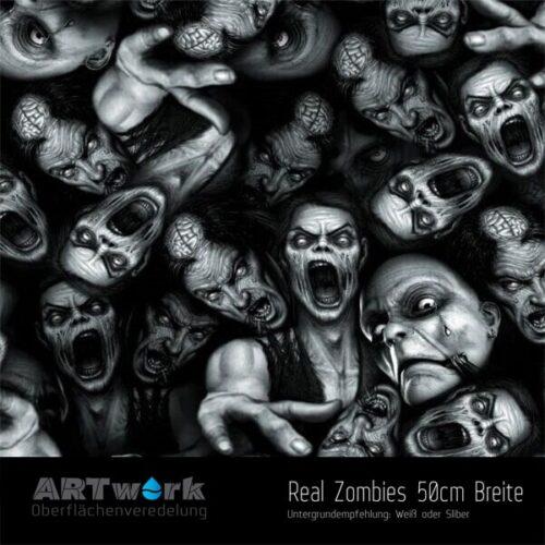 ARTwork, Wassertransferdruck, Folie Real Zombies, 50cm Breite