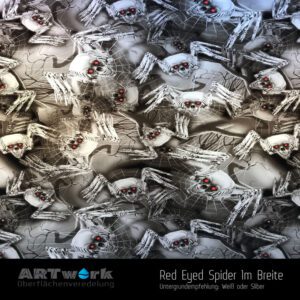 ARTwork, Wassertransferdruck, Folie Red Eyed Spider, 1m Breite