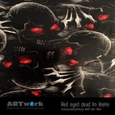 ARTwork, Wassertransferdruck, Folie Red eyed dead, 1m Breite