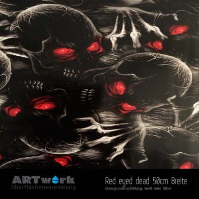 ARTwork, Wassertransferdruck, Folie Red Eyey Dead, 50cm Breite