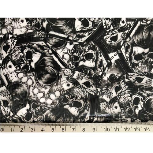 ARTwork, Wassertransferdruck, Folie Rockabilly Skull, 50cm Breite