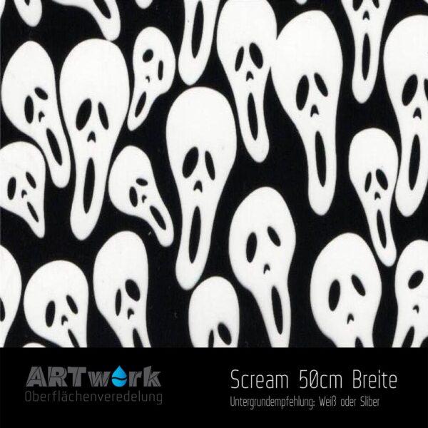ARTwork, Wassertransferdruck, Folie Scream, 50cm Breite