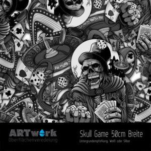 ARTwork, Wassertransferdruck, Folie Skull Game, 50cm Breite