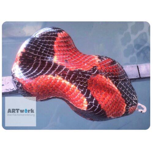 ARTwork, Wassertransferdruck, Folie Snake Red, 1m Breite