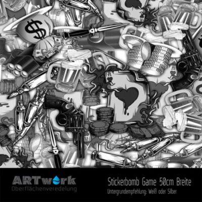 ARTwork, Wassertransferdruck, Folie Stickerbomb Game, 50cm Breite
