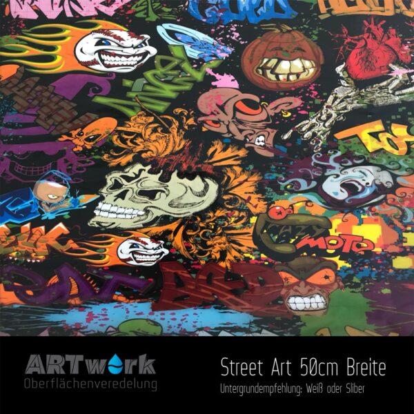 ARTwork, Wassertransferdruck, Folie Street Art, 50cm Breite