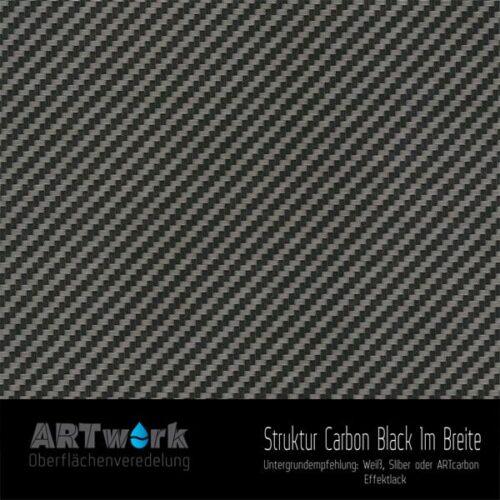 ARTwork, Wassertransferdruck, Folie Struktur Carbon Black, 1m Breite