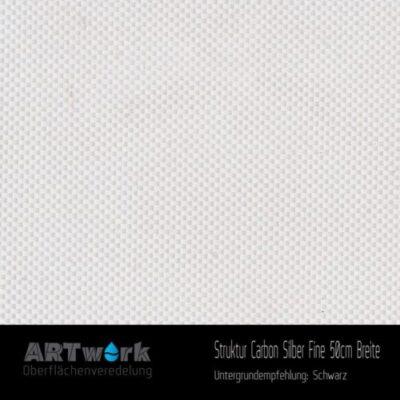 ARTwork, Wassertransferdruck, Folie Struktur Carbon Silber Fine, 50cm Breite