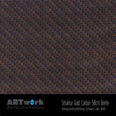 ARTwork, Wassertransferdruck, Folie Struktur Gold Carbon, 50cm Breite
