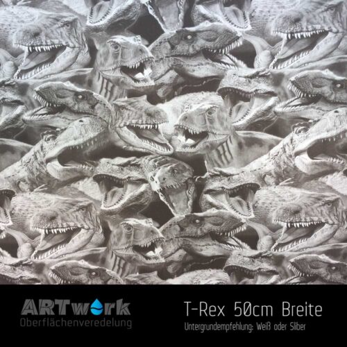 ARTwork, Wassertransferdruck, Folie T-Rex, 50cm Breite