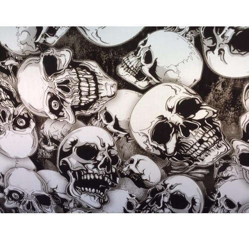 ARTwork, Wassertransferdruck, Folie Terminator Skull, 1m Breite