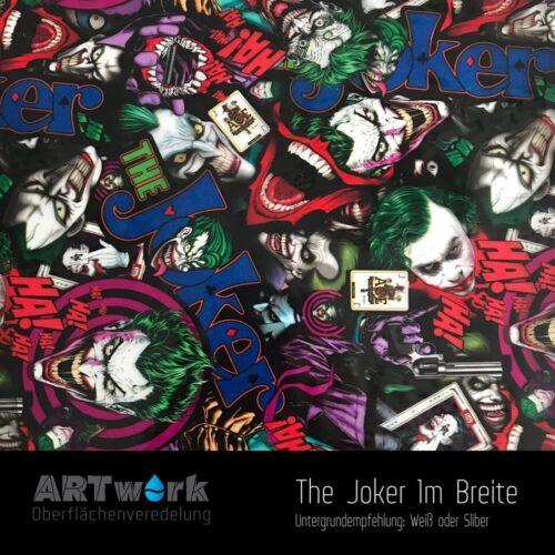 ARTwork, Wassertransferdruck, Folie The Joker, 1m Breite