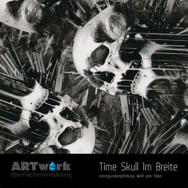 ARTwork, Wassertransferdruck, Folie Time Skull, 1m Breite
