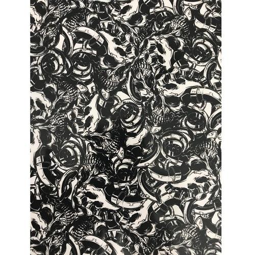 ARTwork, Wassertransferdruck, Folie Turbo Skull, 50cm Breite