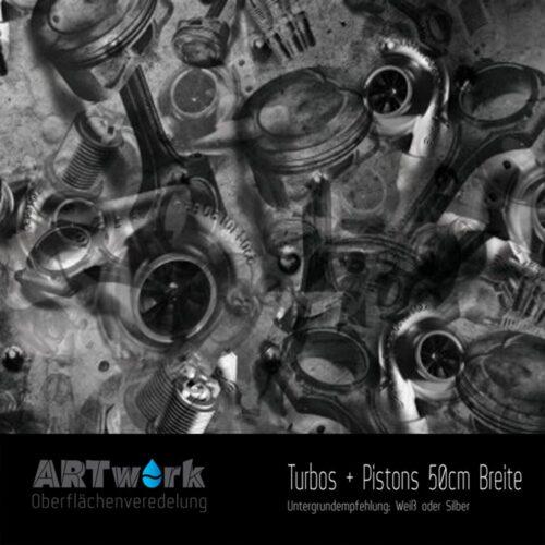 ARTwork, Wassertransferdruck, Folie Turbos + Pistons, 50cm Breite