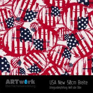 ARTwork, Wassertransferdruck, Folie USA NEW, 50cm Breite
