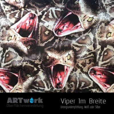 ARTwork, Wassertransferdruck, Folie Viper, 1m Breite