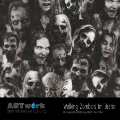 ARTwork, Wassertransferdruck, Folie Walking Zombies, 1m Breite