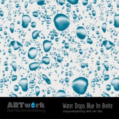 ARTwork, Wassertransferdruck, Folie Water Drops Blue, 1m Breite