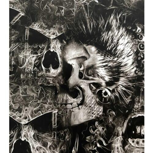 ARTwork, Wassertransferdruck, Folie Wild Skull, 1m Breite