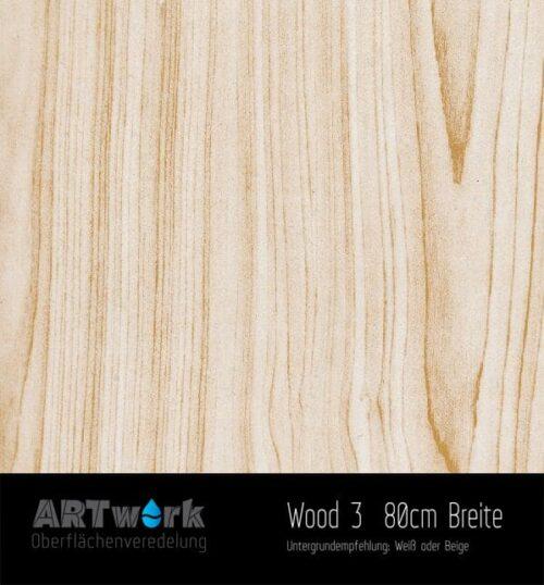 ARTwork, Wassertransferdruck, Folie Wood, 80cm Breite