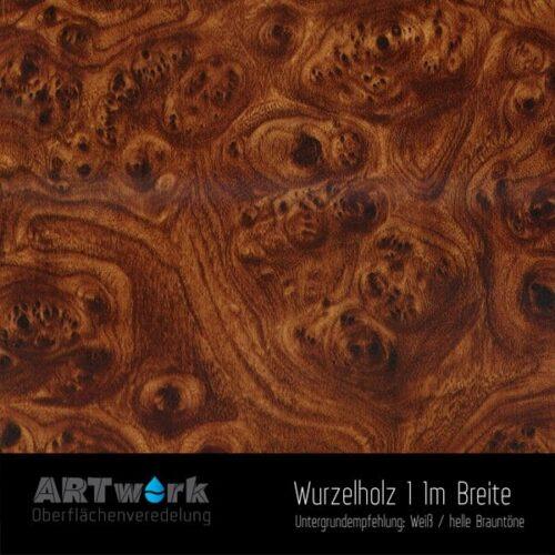 ARTwork, Wassertransferdruck, Folie Wurzelholz 1, 1m Breite