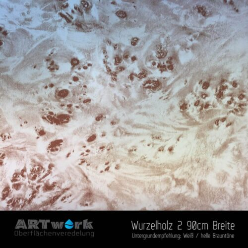 ARTwork, Wassertransferdruck, Folie Wurzelholz 2, 90cm Breite