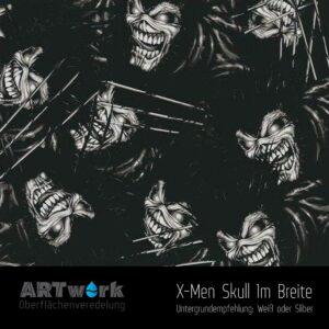 ARTwork, Wassertransferdruck, Folie X-Men Skull, 1m Breite