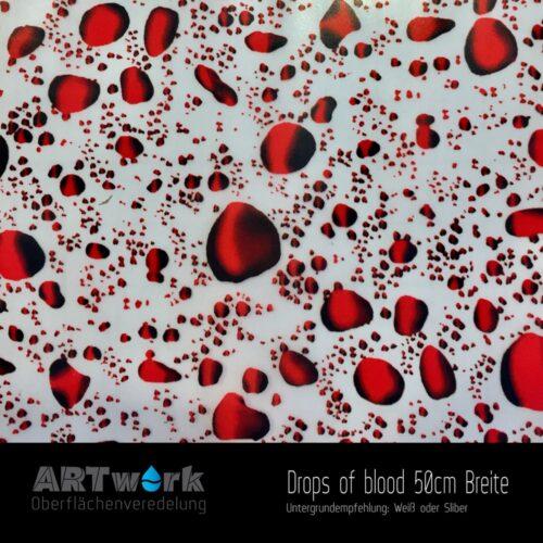 ARTwork, Wassertransferdruck, Folie Drops of Blood, 50cm Breite